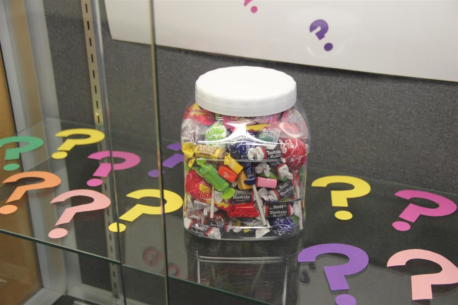 Example candy jar from Guess How Many Contest