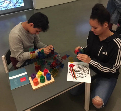 Students create their own art at the Bechtler.