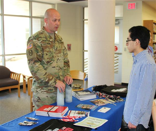 National Guard table at the Career and College Fair