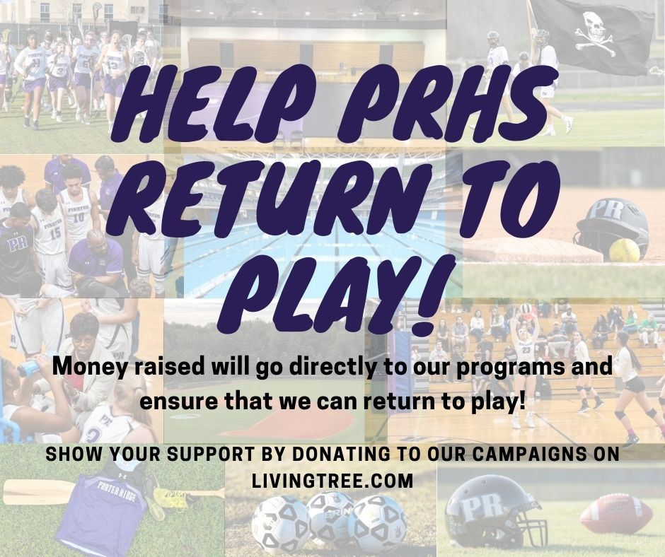 Help PRHS Return to Play Graphic
