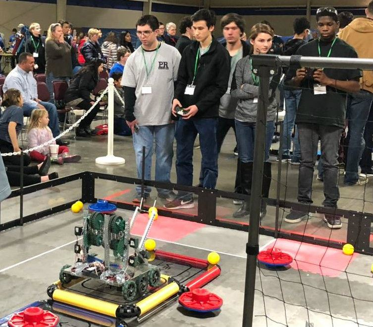 Robotics Club competing at Fall 2018 Competition