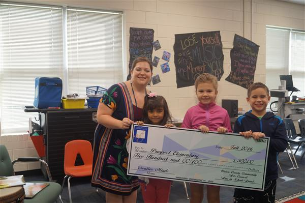 Mrs. Thornton Receives Grant!
