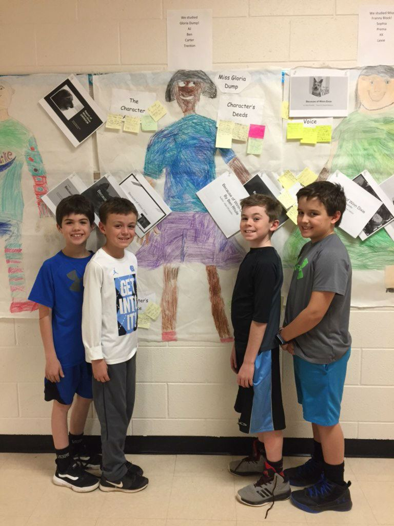 Third Graders Tackle Character Study