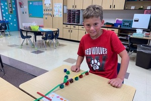First Grade Students Build Classroom Community