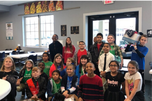 Members of Rocky River Elementary's Student Lighthouse Team visited Union County's Community Shelte