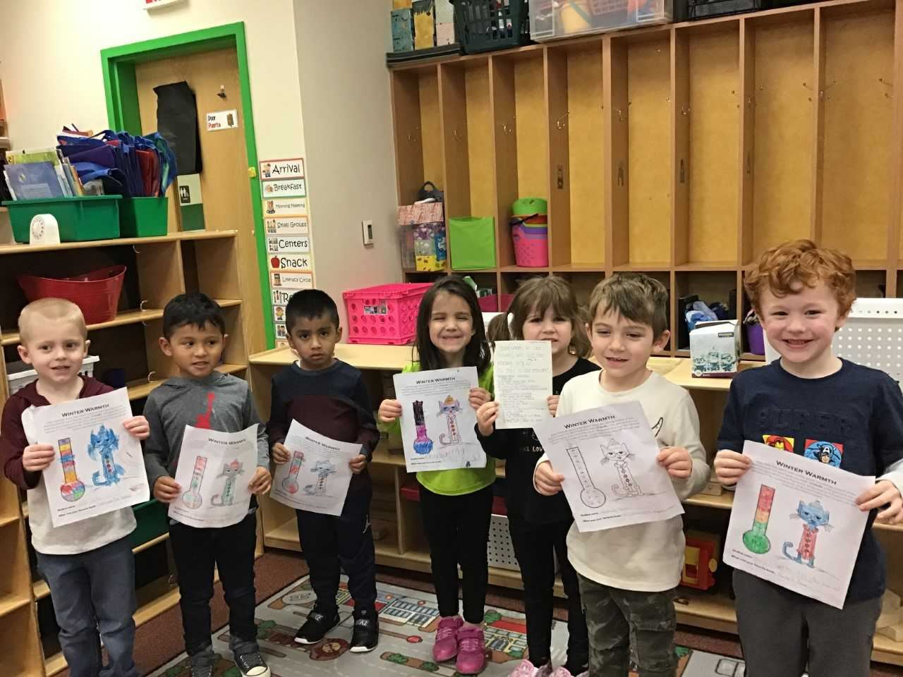 Mrs Stephens pre-K class was given a reading challenge over Winter Break. These seven students comp