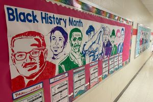 Black History Month Display at Marvin Ridge Elementary