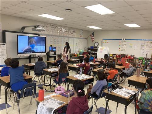 Second grade Mandarin class at Marvin Elementary