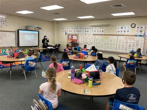 First grade Mandarin class at Kensington