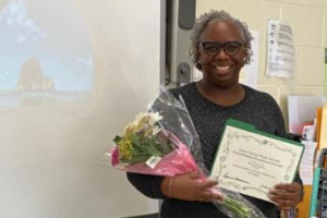 Weddington Middle EC teacher is recognized for excellence in the classroom