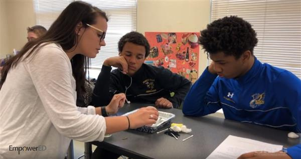 Spotlight on #EmpowerED: EUMS teacher Morgan Molihan encourages collaboration and creativity in environmental lesson