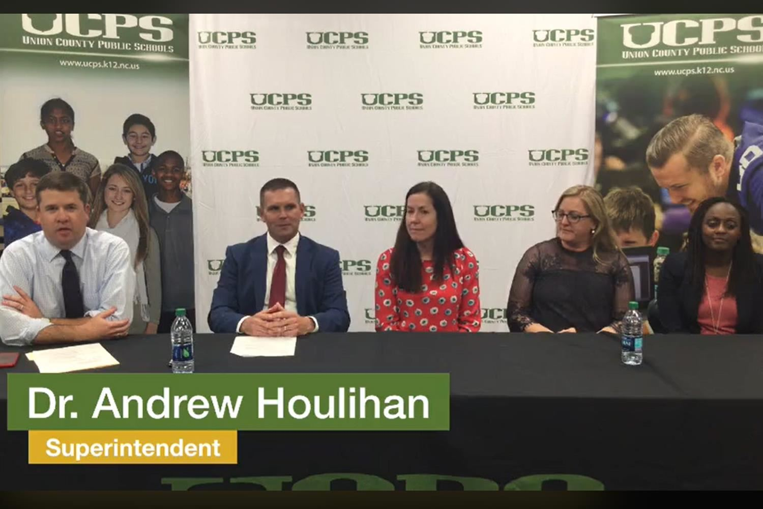 Superintendent Dr. Andrew Houlihan hosts Facebook Live to discuss social and emotional, safety, and security expansions