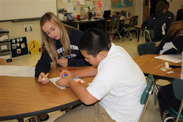 New Weddington Middle course provides peer support to students with disabilities