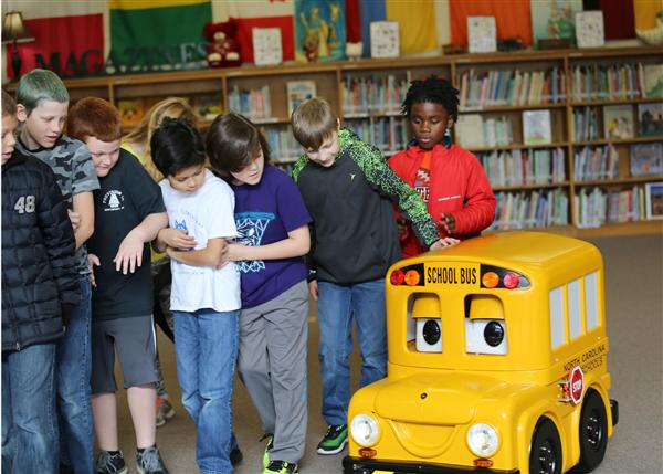 Buster the Bus makes school bus safety lessons fun
