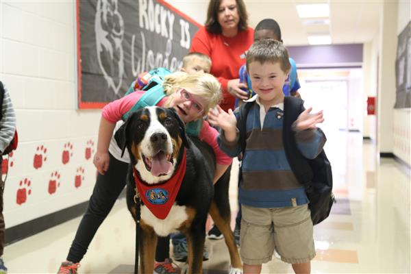 Therapy dogs bring calm and comfort to UCPS classrooms