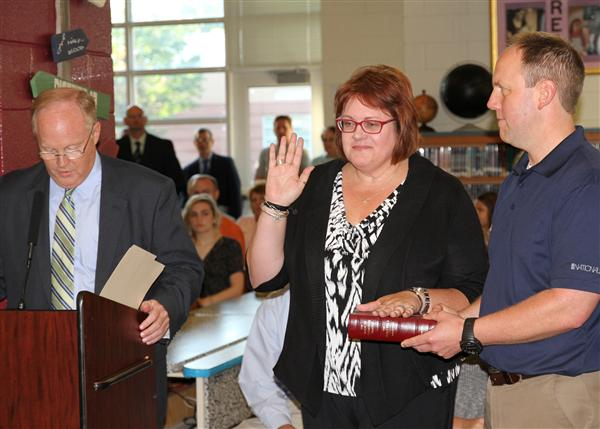 Michele Morris sworn in as interim UCPS superintendent