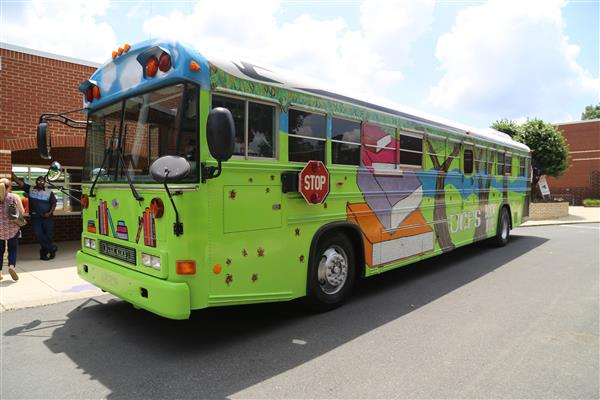 UCPS Mobile Book Bus hits the road