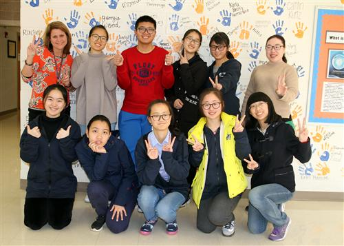 Visiting high school students from China experience cultural, educational differences