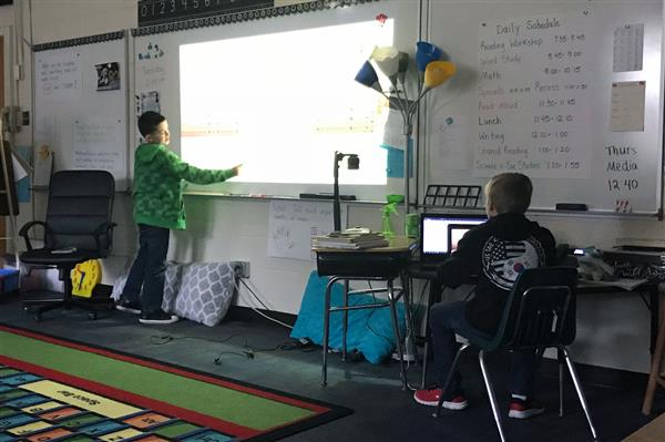 Prospect Elementary student leads weekly technology class for his peers