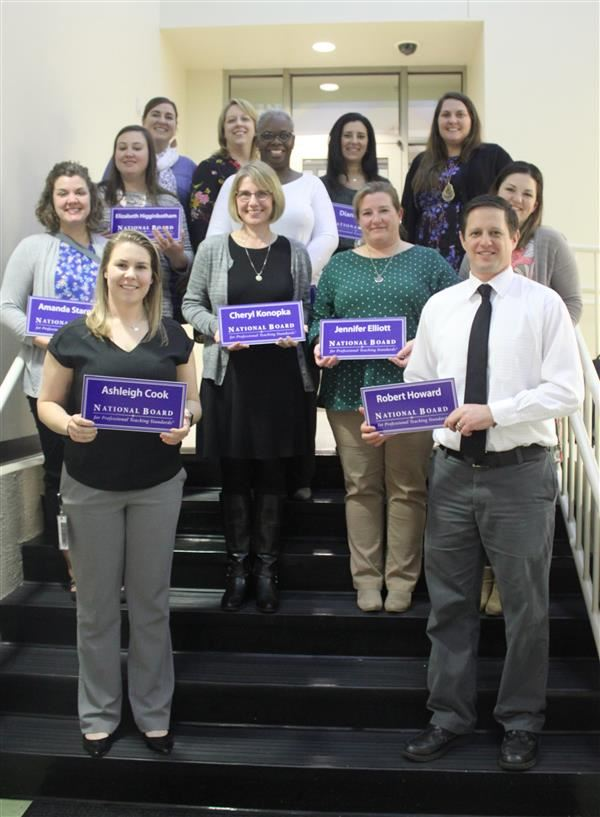 This is a picture of new NBCT teachers