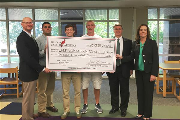 Weddington High student is Bank of NC athlete of the month