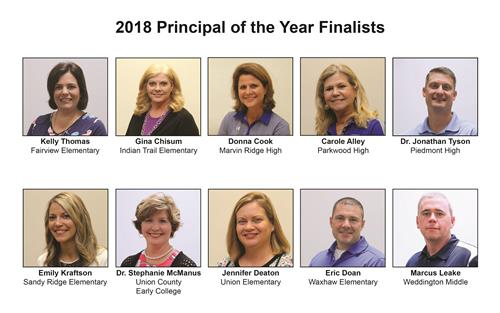 UCPS names 2018 Principal of the Year finalists