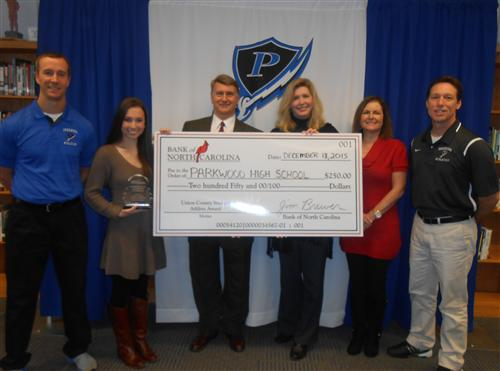 Parkwood tennis player is named Student Athlete of the Month