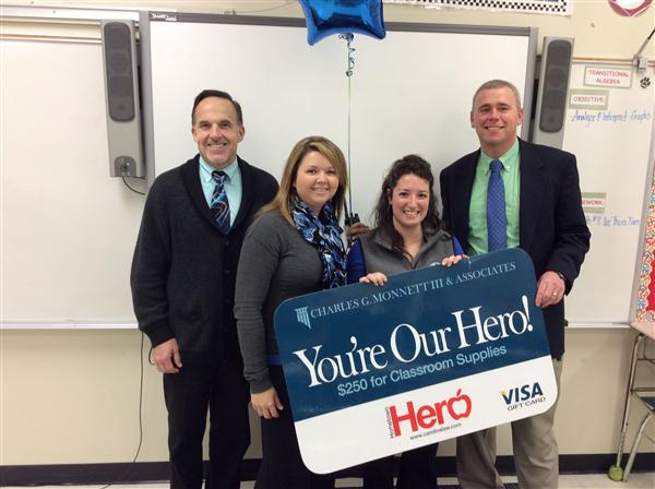 Weddington Middle teacher is November 'Hometown Hero'