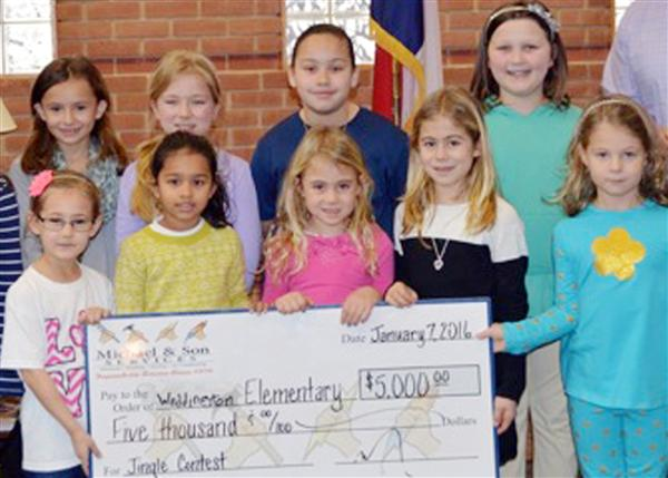A song is worth $5,000 at Weddington Elementary