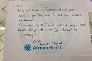 Card from Atrium employee