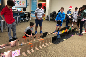 Students celebrated Computer Science Education Week by doing Hour of Code activities and learning how to use code to guide Sphero, our mini robot!