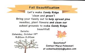 Fall beautification flyer