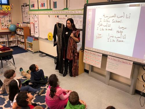 2nd graders learn about other cultures