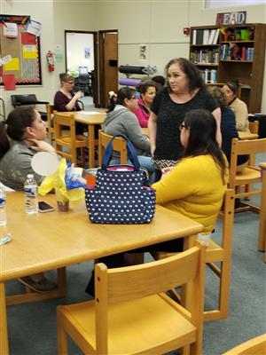 Ms. Patton meets with Parentsrents