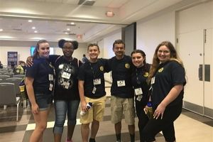 Interact Club members attend Seminar for Tomorrow's Leaders at Wingate University