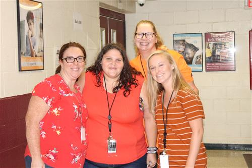 Staff dress in Orange for Unity Day