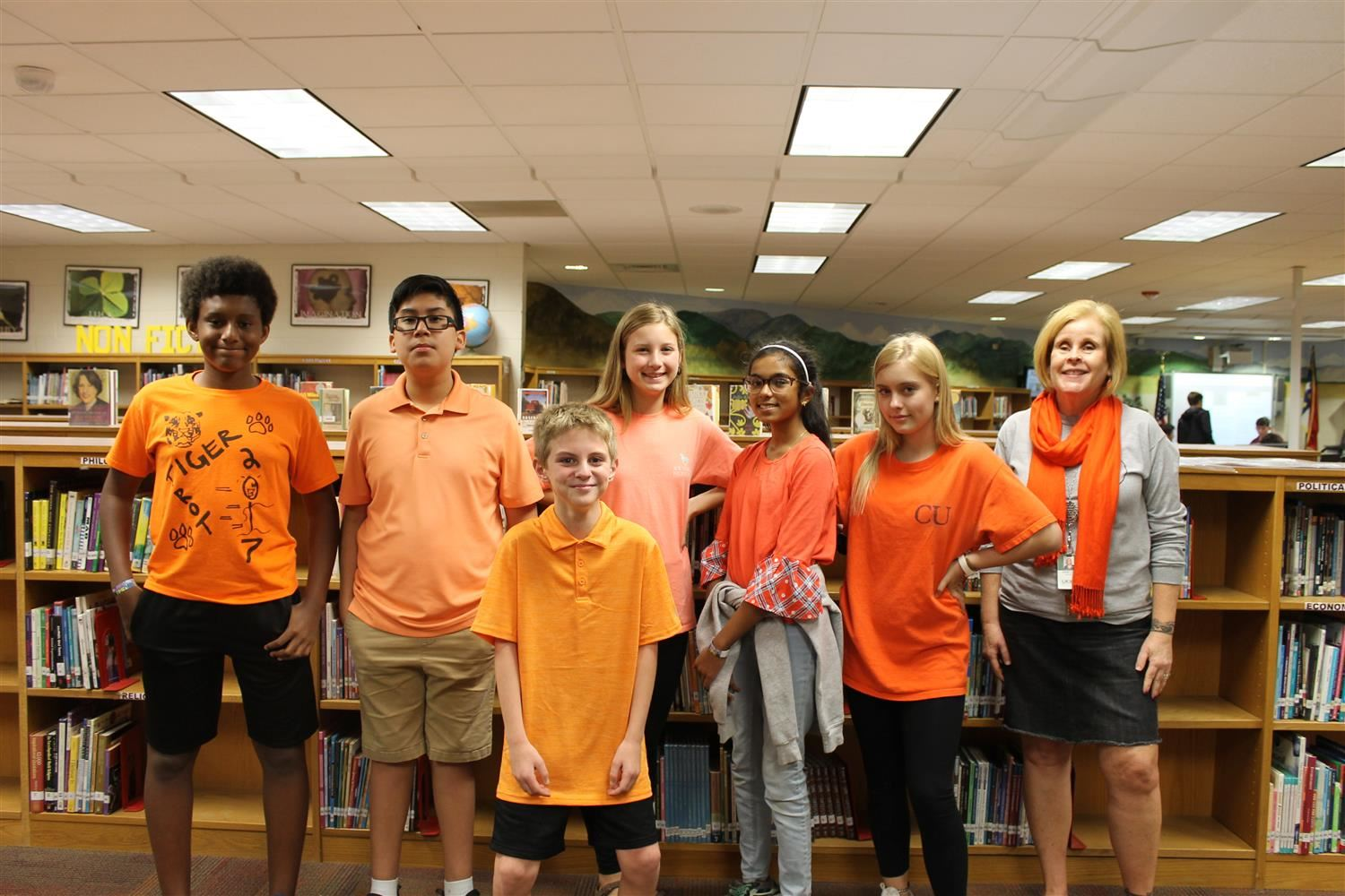 Students wear orange in support of Unity Day