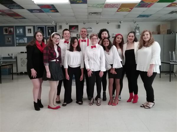 UCEC Glee Club Tonality competed in the North Carolina Association of Scholastic Activities Acappella Competition at Hillside High School