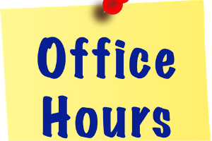 Admin and Counselor Office Hours