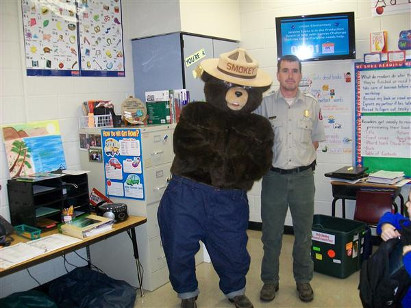 Ranger Cranfill and Smokey the Bear