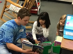 East Union Middle School Beta Club Reads with K-2 Classes