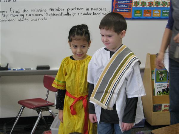 Mrs. Pope's Kindergarten Learned about Faraway Places  at the Annual Union International Festival
