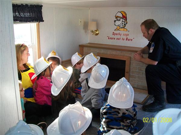PreK Learns About Fire Safety