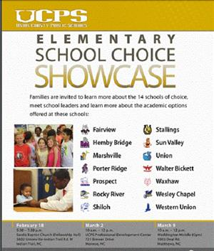 ELEMENTARY SCHOOL CHOICE SHOWCASE