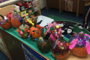 Pumpkin Masterpieces in Ms. Dubose's Classroom
