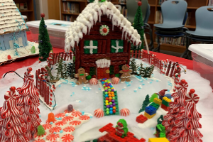 WDES Teachers' Gingerbread Houses Display