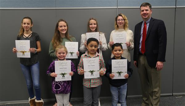 UCPS celebrates Holiday Card Contest finalists and winner at breakfast