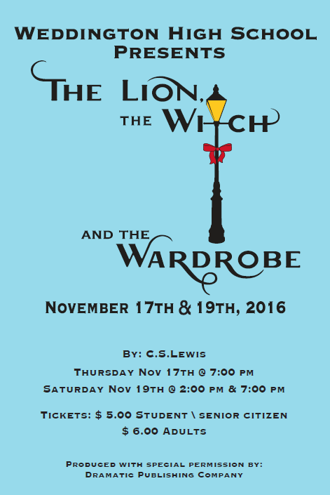 WHS presents The Lion, The Witch, and The Wardrobe