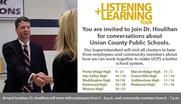 Your chance to meet Dr. Houlihan and share your ideas for UCPS.