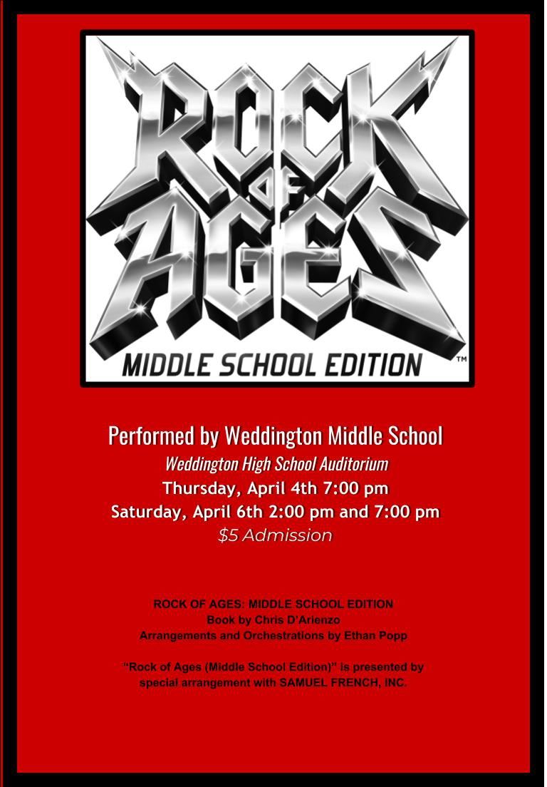 We want to rock!  WMS is proud to present Rock of Ages